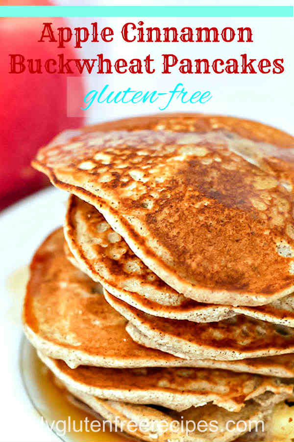 Gluten Free Apple Cinnamon Buckwheat Pancakes Only Gluten Free Recipes