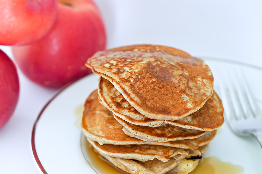 apple cinnamon pancakes, gluten free