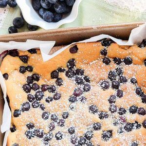 Gluten Free Blueberry Low Fat Cake
