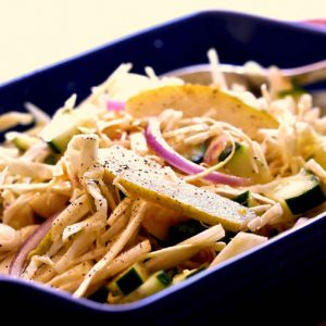Cabbage, Fennel And Pear Crunch Salad