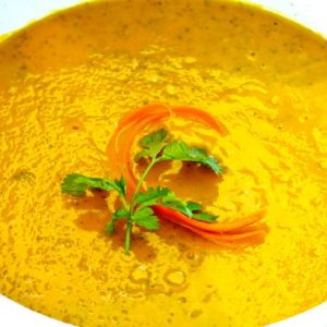 Vegan Carrot and Coriander Soup