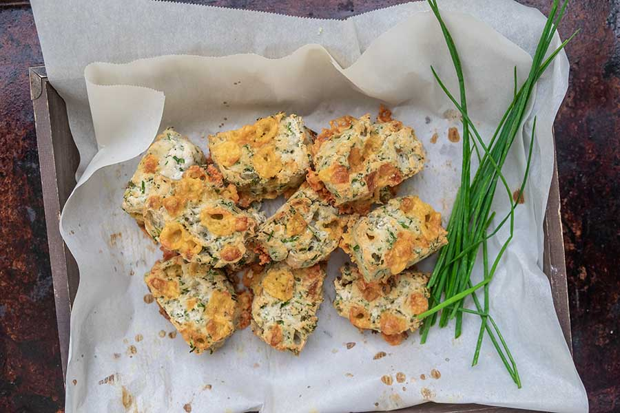 cheese and chives scones, gluten free