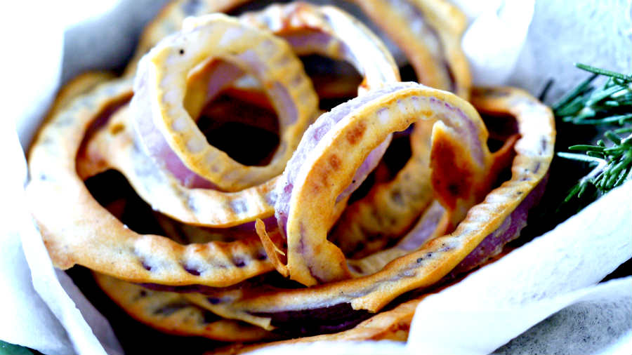 Gluten Free Crispy Onion Rings Without Frying