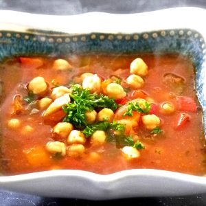 Cuban Vegetarian Garbanzo Bean Soup