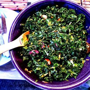 Light Kale Salad with Parmesan Cheese
