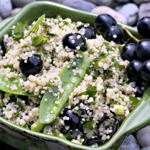 Quinoa Salad With Grapes and Sweet Peas