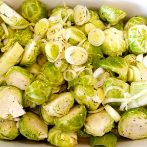 Roasted Brussel Sprouts With Fennel And Leeks