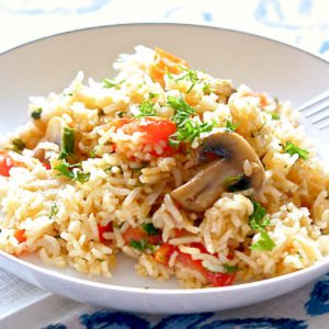 Spanish Rice Recipe – (vegan, gluten-free)