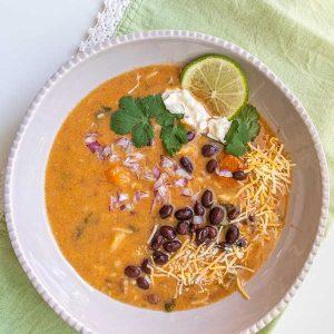 Gluten Free Vegetarian Tortilla Soup