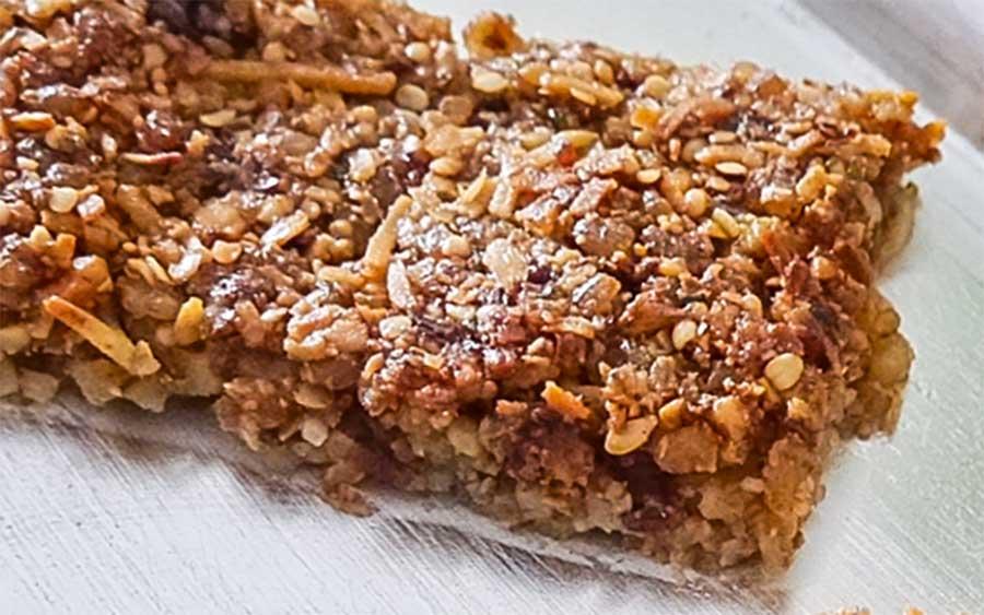 walnut fig healthy energy bar gluten free