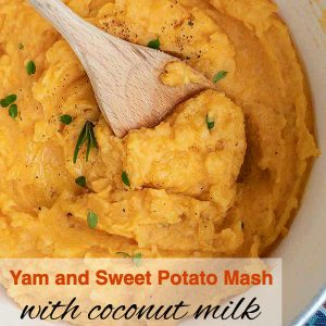 Yam And Sweet Potato Mash With Coconut Milk