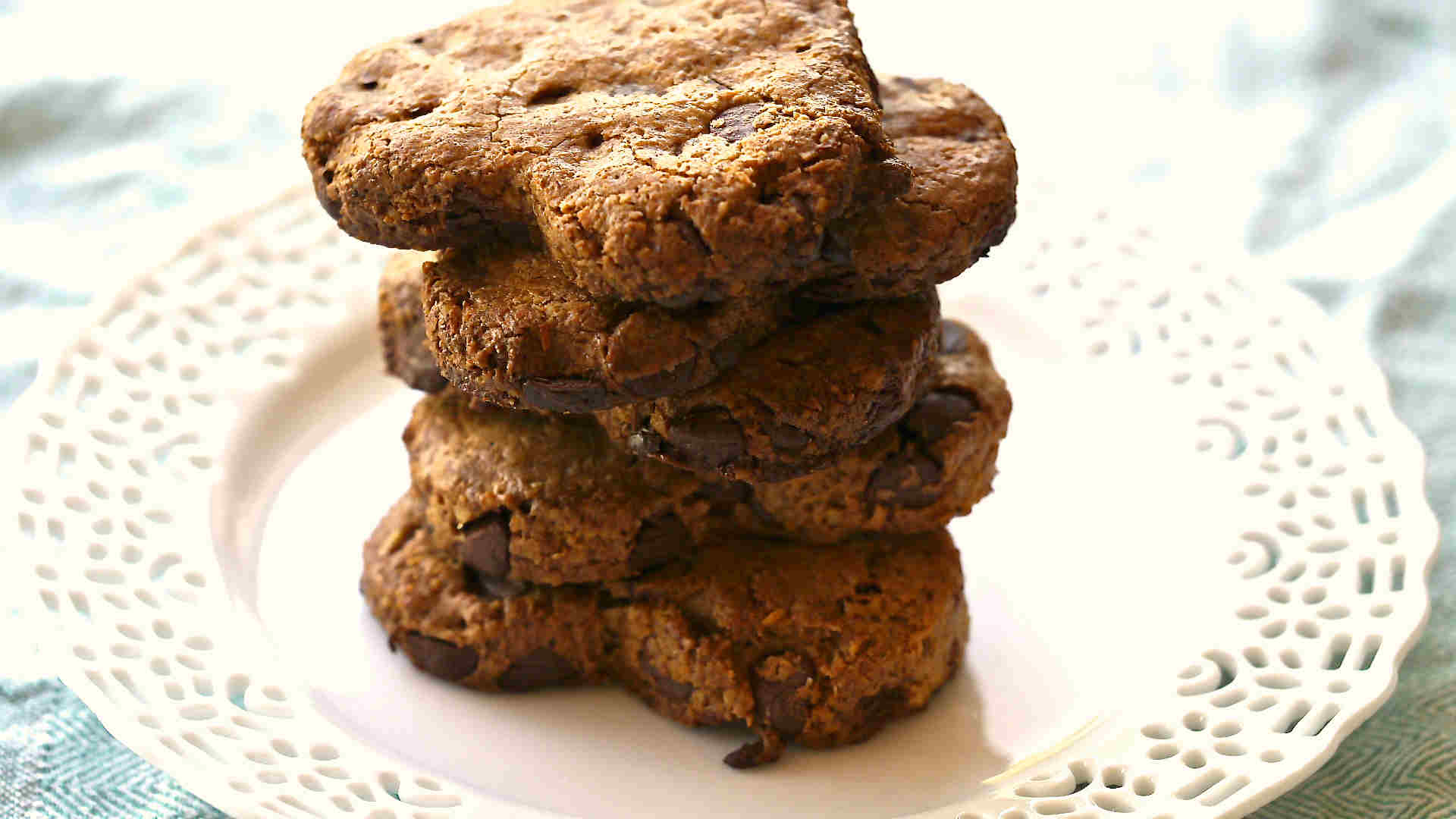 Gluten Free Walnut Coconut Chocolate Chunkies