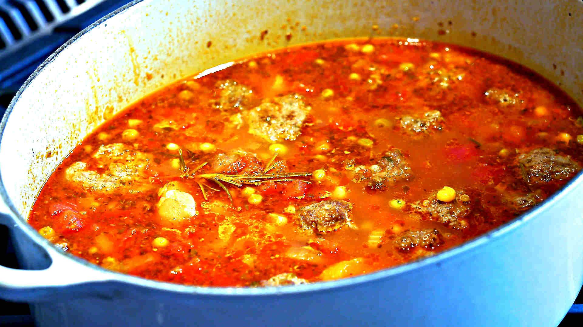 Gluten Free Italian Meatball Soup