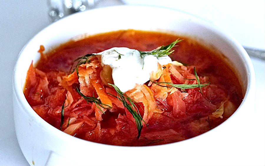 Ukrainian borscht, vegetarian