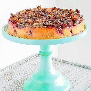 Gluten-Free Upside Down Plum Cake