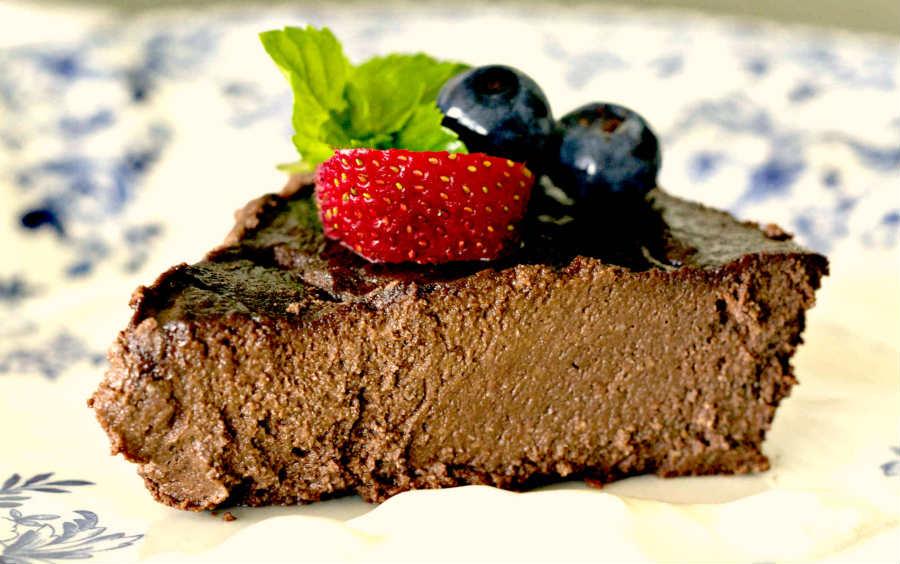chocolate walnut pie, grain-free