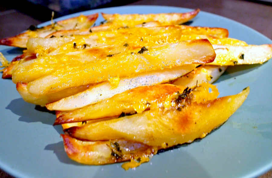 Baked Cheesy Crispy Fries