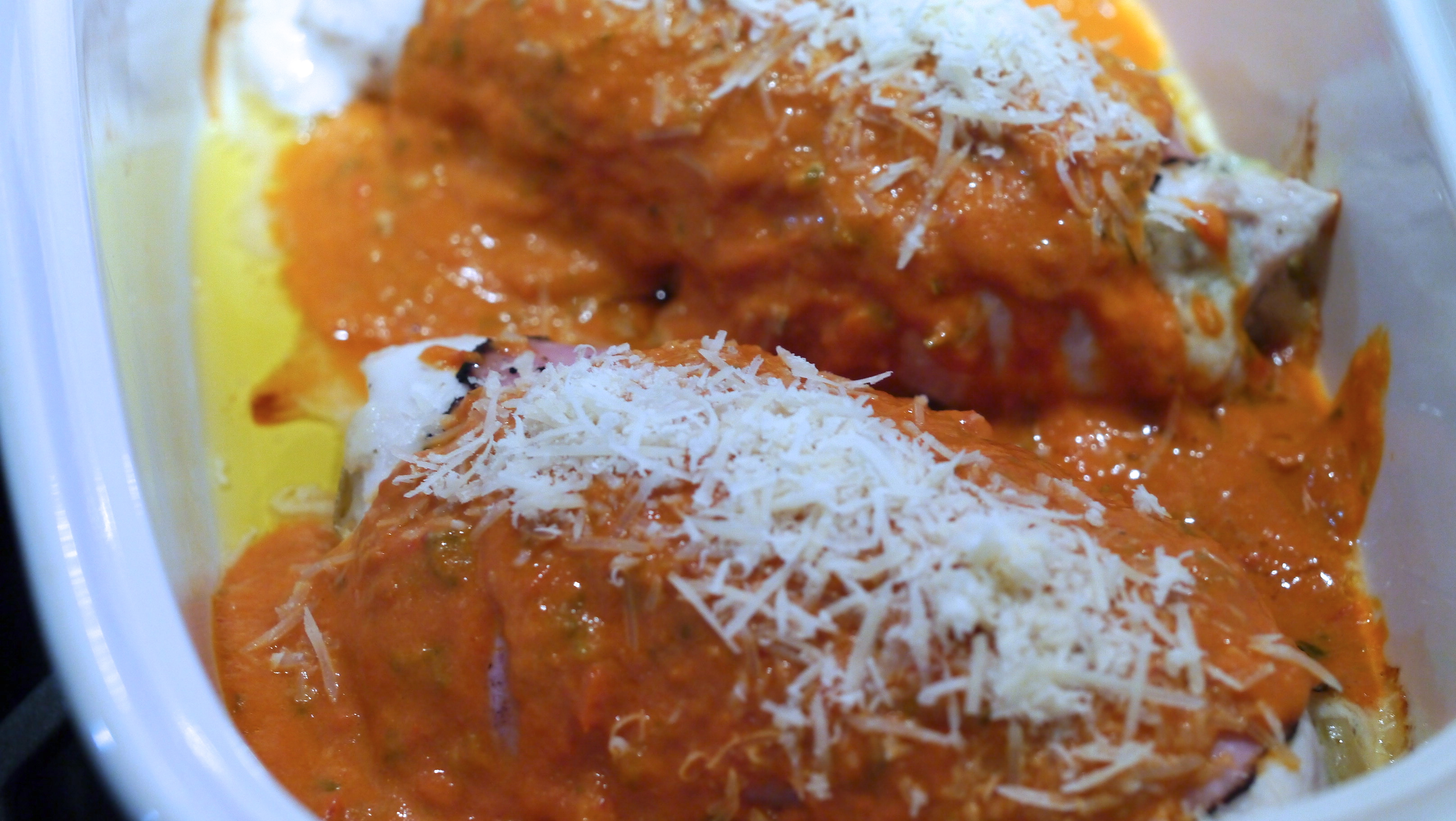 Artichoke, Parmesan Stuffed Chicken Breast With Tomato Basil Sauce