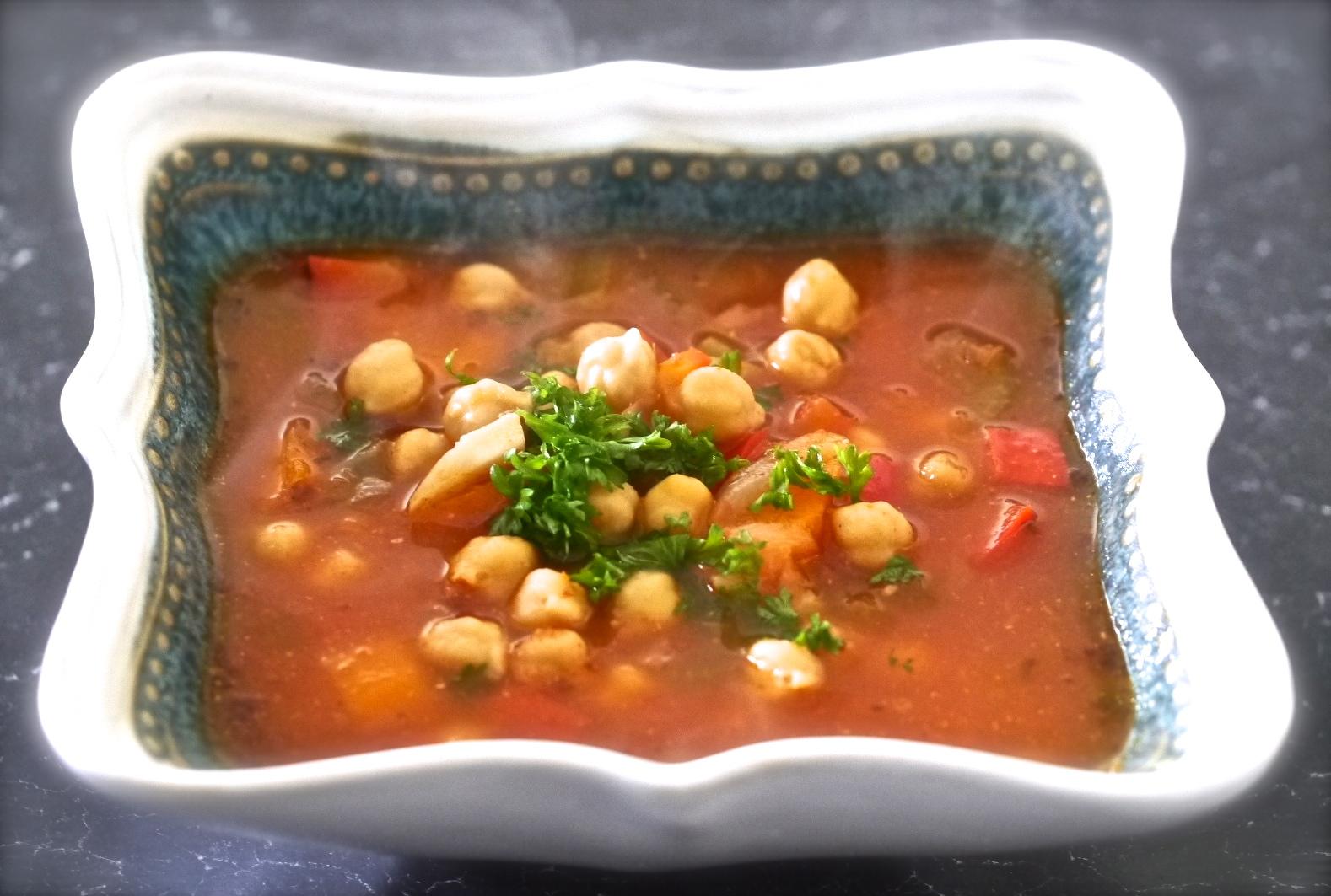 Cuban Vegetarian Garbanzo Bean Soup