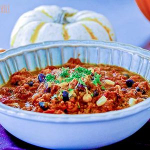 Gluten Free Skinny Turkey Pumpkin Chili
