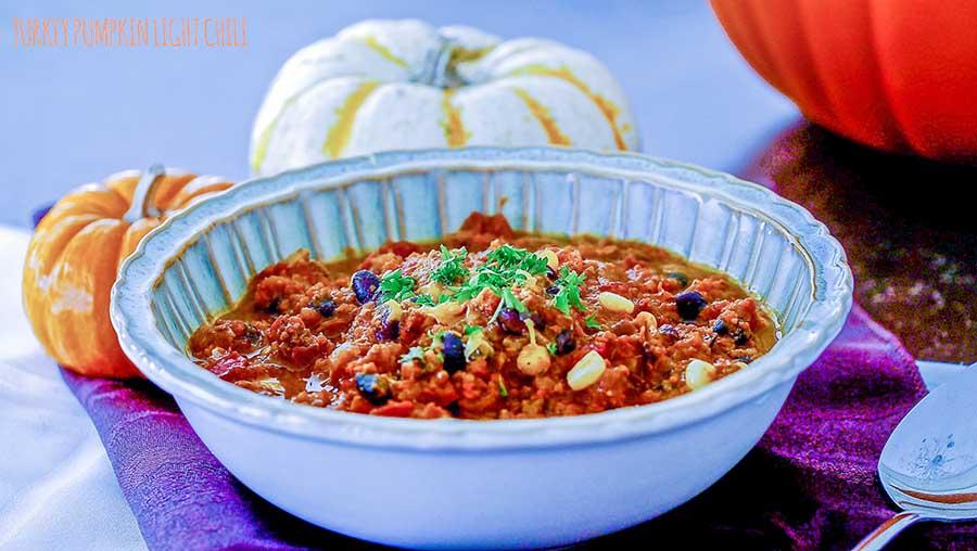Gluten Free Skinny Turkey Pumpkin Chili