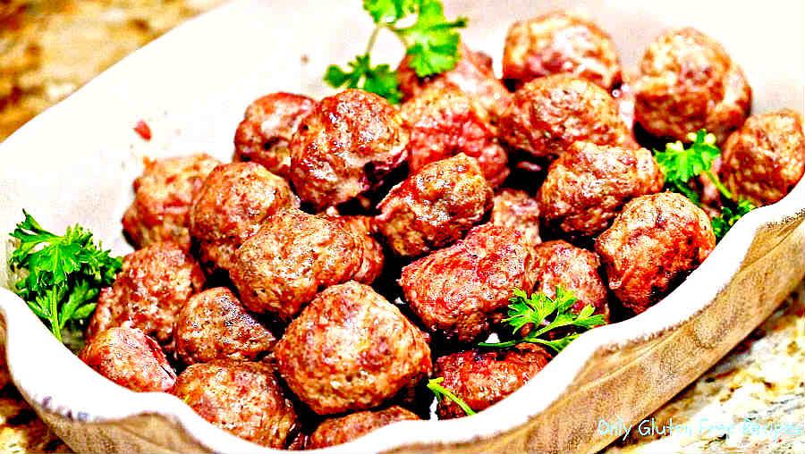 Gluten-Free, Egg-Free Italian Meatballs