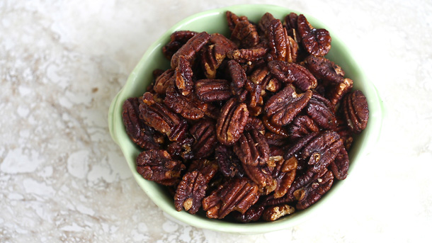Roasted Maple Spiced Pecans