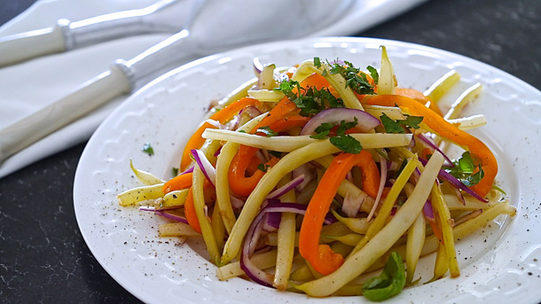 Simple Yellow Beans Salad