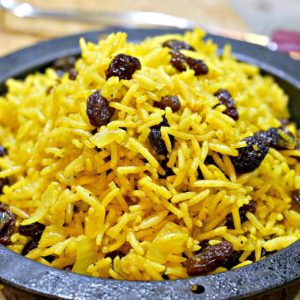 Gluten-Free 5-Spice Rice With Raisins