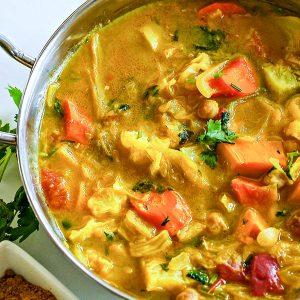 Gluten Free Vegetarian Light Curry Soup