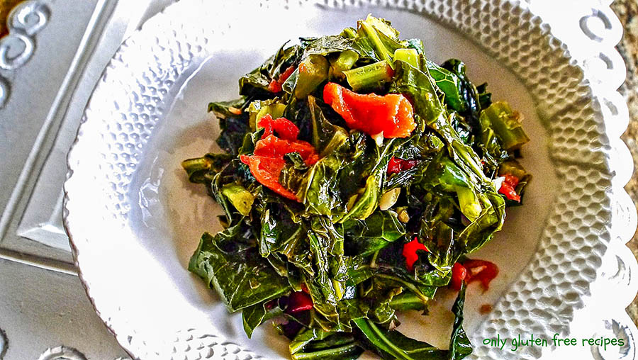 Sautéed Collard Greens with Tomato and Garlic