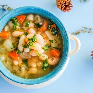 Vegan White Bean Soup with Kale