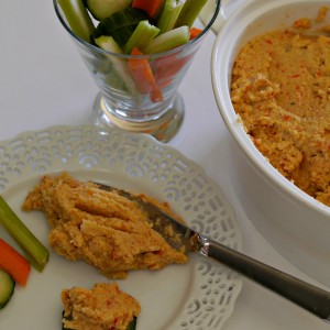 Gluten-Free Roasted Cauliflower and Red Pepper Dip