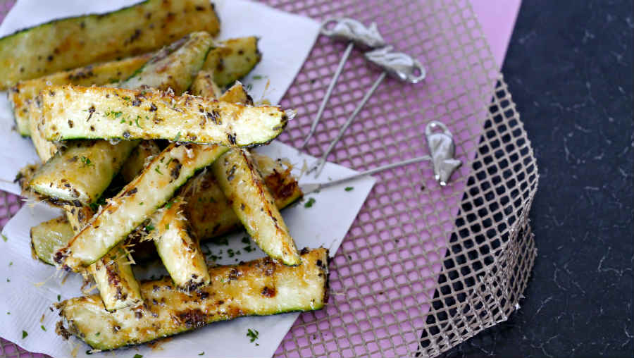 zucchini fries, baked