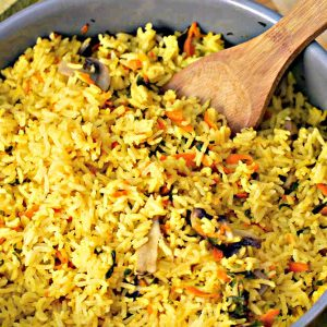 Rice With Parsley, Mushrooms And Carrots