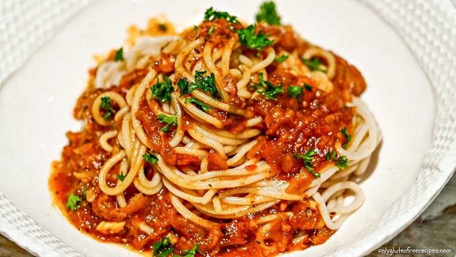 zucchini spaghetti sauce