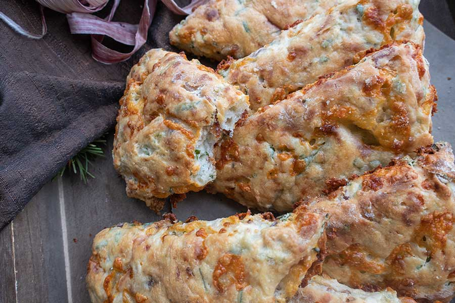 bacon and cheese scone