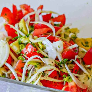 Mediterranean Salad With Lime Vinaigrette