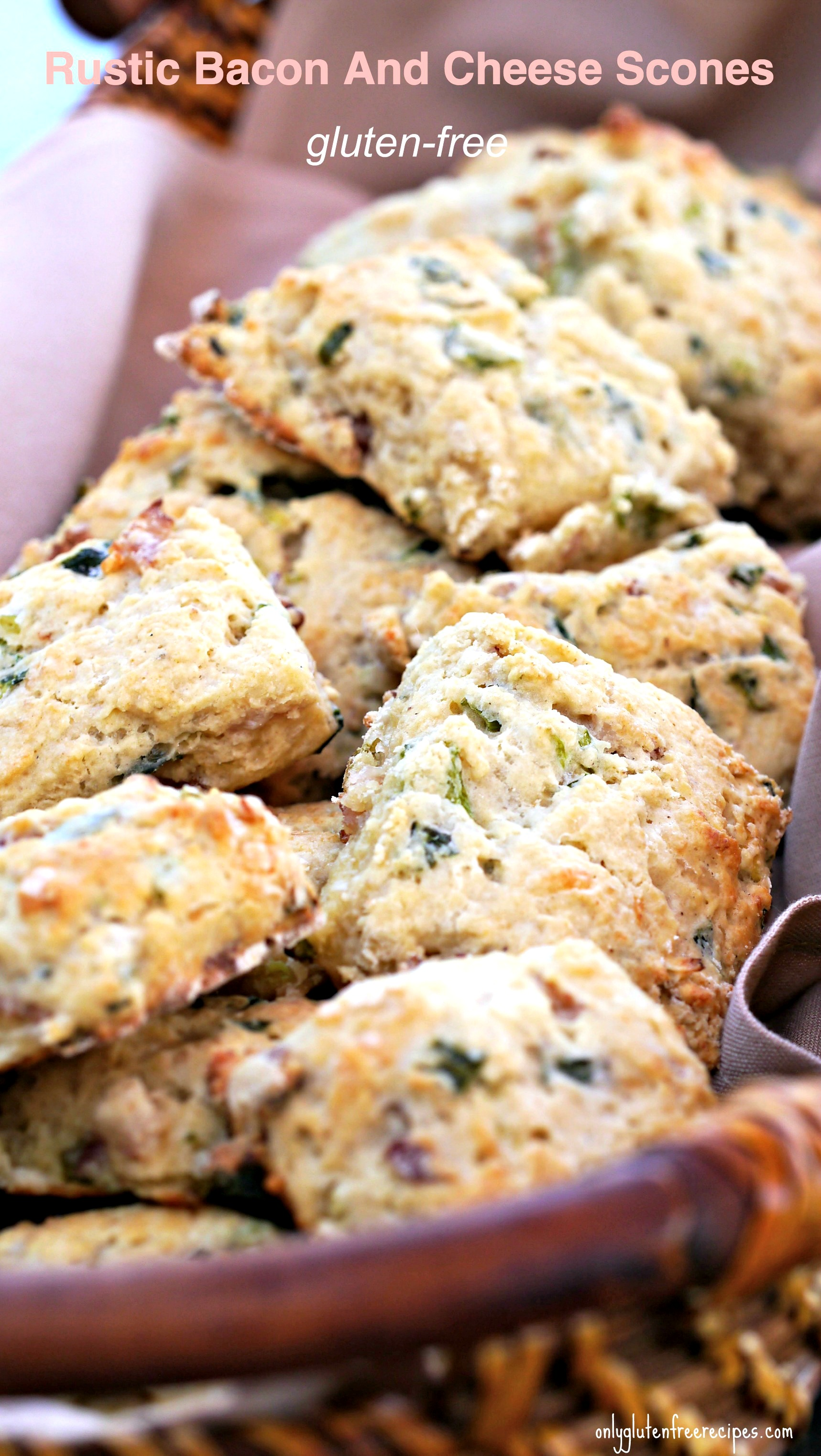 Rustic Gluten-Free Bacon And Cheese Scones