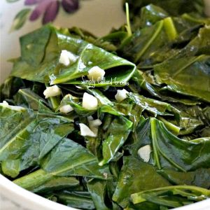 Simply Collard Greens with Garlic