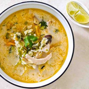 Spicy Thai Chicken Coconut Soup