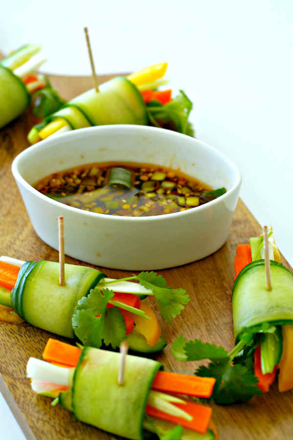 Vegetarian Cucumber Spring Rolls