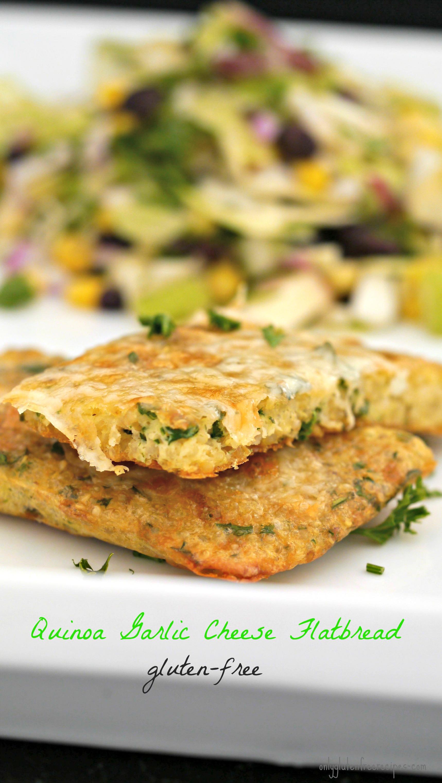 Gluten Free Quinoa and Cheese Flatbread