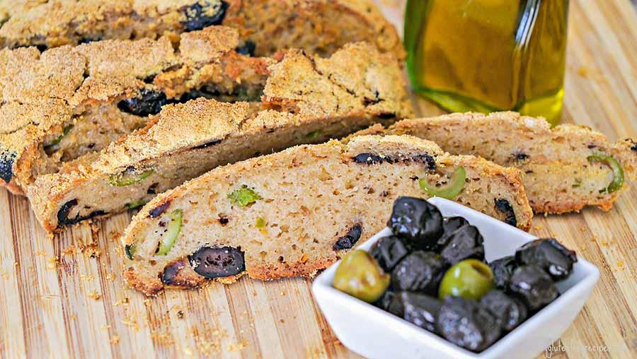 Gluten Free Mediterranean Olive Bread