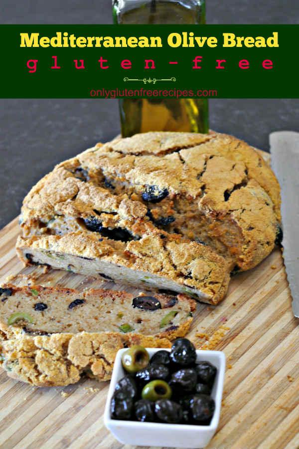 Gluten-Free Mediterranean Olive Bread