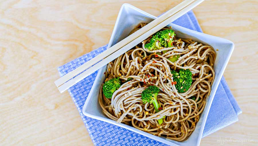 spicy soba noodles, gluten free