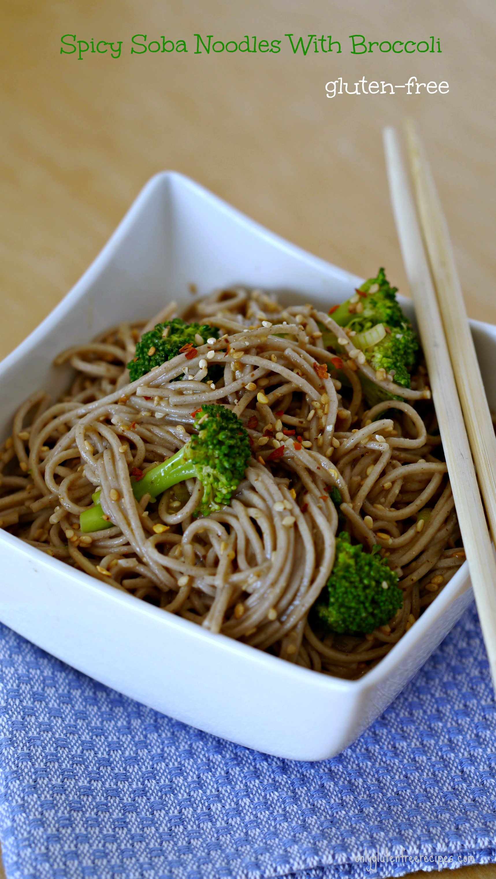 Peanut Soba Noodles With Broccoli And Red Pepper Recipe — Dishmaps