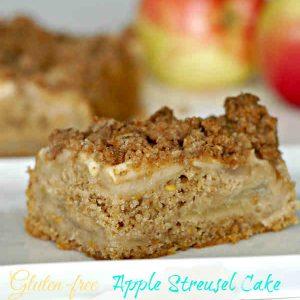 Gluten Free Apple Streusel Cake