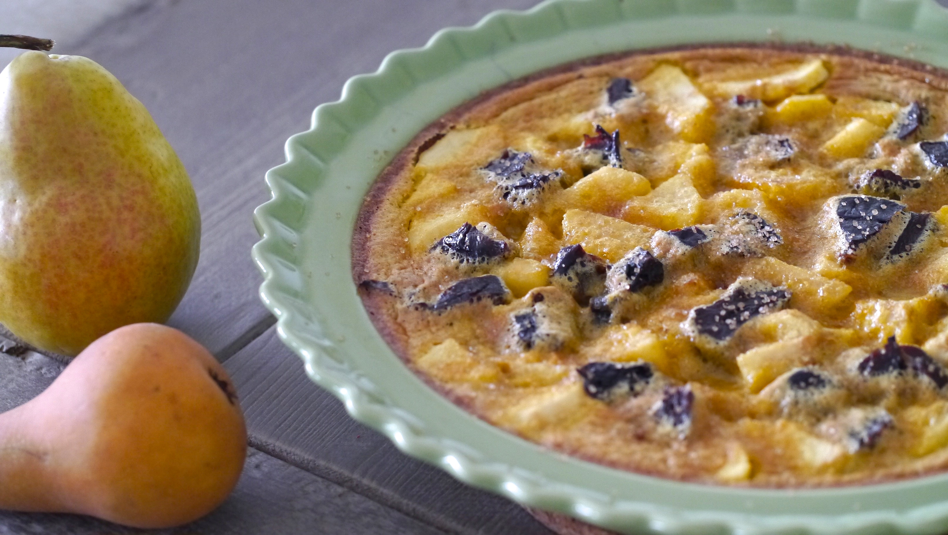 Gluten-Free Pear and Plum Clafoutis