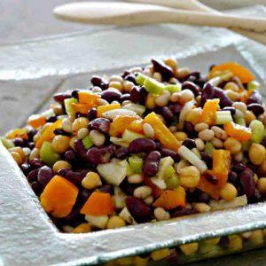 Easy Bean Salad with Light Vinaigrette